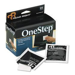 Read Right OneStep Screen Cleaner 5 x 5 24/box