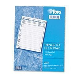 Tops Daily Agenda 8-1/2 x 11 100-Sheet Pad