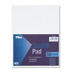 Tops Quadrille Pads Four Squares Per inch 8-1/2