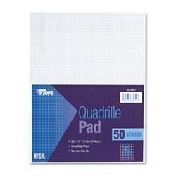 Tops Quadrille Pads Five Squares Per inch 8-1/2