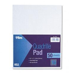 Tops Quadrille Pads Ten Squares per inch 8-1/2 x