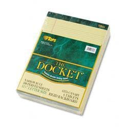 Tops Double Docket Ruled Pads Narrow Rule Ltr 10122186