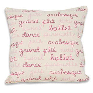 Thro Ballerina Words 18x18-inch Printed Pillow