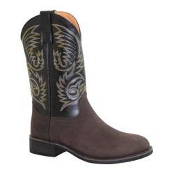 Men's AdTec 9552 11in Western Pull On Work Boot Round Black/Brown