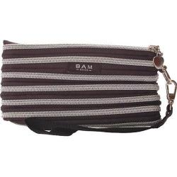 Women's BAM BAGS The Original Zippurse Wristlet (2 units) Black/Silver