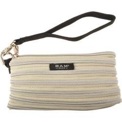 Women's BAM BAGS Wristlet/Make-Up Bag Sand/Silver