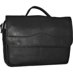 David King Leather 172 Porthole Briefcase Black