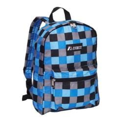 Everest Blue Bold Plaid Pattern Backpack
