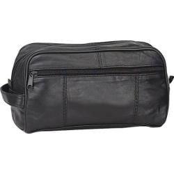 Goodhope P7372 Leather Toiletry Kit Black