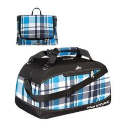 High Sierra Pack-N-Go Blue/Black Crosshatch/Black 36-inch Duffel Bag