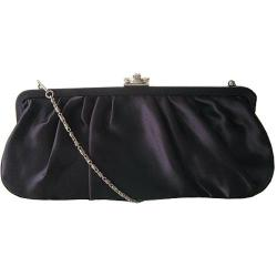 Women's J. Furmani 20290 Pleated Satin Clutch Navy