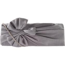 Women's J. Furmani 27102 Bow Clutch Pewter