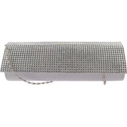 Women's J. Furmani 27152 Resin Stone Clutch Silver