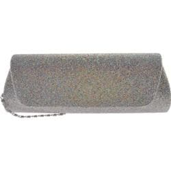 Women's J. Furmani 27217 Glitter Evening Bag Silver