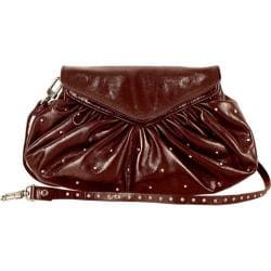 Women's Latico Grace Foldover Convertible Clutch/Cross Body 7903 Brown Leather