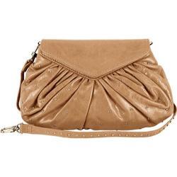 Women's Latico Grace Foldover Convertible Clutch/Cross Body 7903 Metallic Taupe Leather