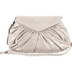 Women's Latico Grace Foldover Convertible Clutch/Cross Body 7903 Metallic White Leather