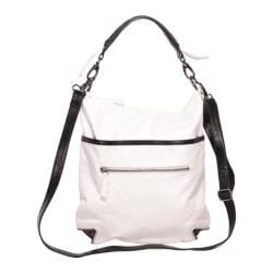 Women's Latico Jackie Bucket Tote 8587 Metallic/White/Black Leather