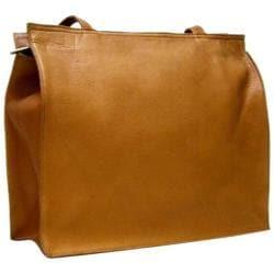 Women's LeDonne H-05b Tan Leather Tote Bag