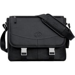 MacCase Premium Leather Black Laptop Briefcase