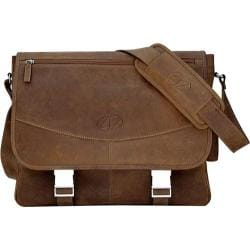 MacCase Premium Leather Large Vintage Laptop Messenger Bag