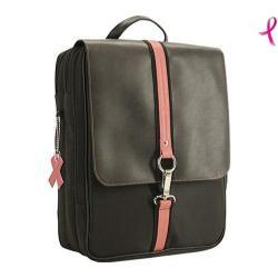 Women's Mobile Edge 16in PC/ 17in Mac Komen Paris Backpack Black/Pink Trim