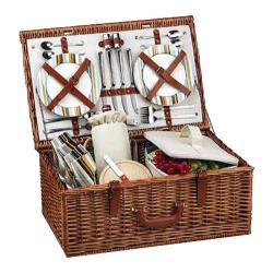 Picnic at Ascot Dorset Basket for Four Wicker/London