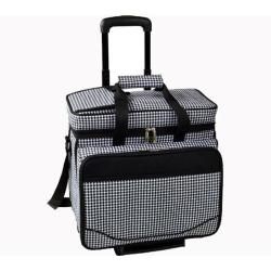 Picnic at Ascot Picnic Cooler for Four/Wheeled Cart Houndstooth