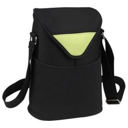 Picnic at Ascot Two Bottle Tote 13in Black/Apple/Neo