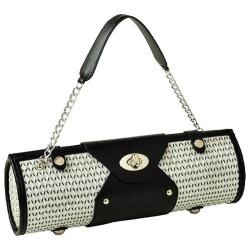 Women's Wine Carrier/Purse Black/White