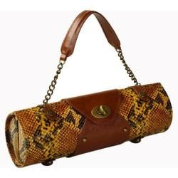 Women's Wine Carrier/Purse Yellow Snake