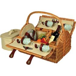 Picnic at Ascot Yorkshire Picnic Basket for Four Wicker/Gazebo