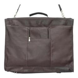 Piel Leather 40in Elite Garment Carrier 9428 Chocolate Leather