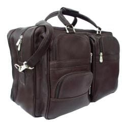 Piel Leather Complete Carry All Bag 8829 Chocolate Leather