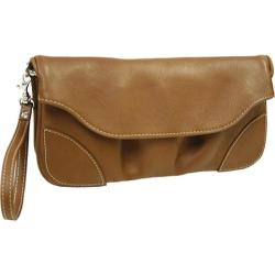 Women's Piel Leather Clutch/Large Wristlet 2885 Saddle Leather