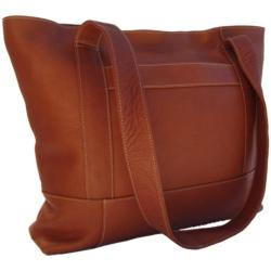 Women's Piel Leather Top Zip Tote 7630 Saddle Leather