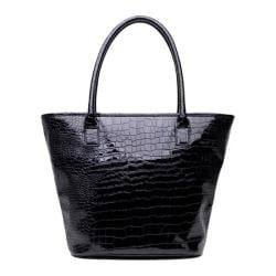 Women's Soapbox Bags Vineyard Shopper Tote Black Croc