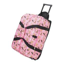 Wildkin Rolling Duffel Bag Horses in Pink