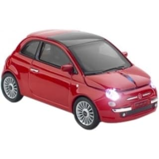 Click Car Fiat 500 Wireless Optical Mouse - Red