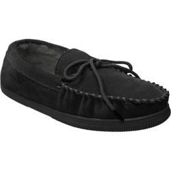 Men's Boston Traveler Faux Suede Mocassin Slippers Black