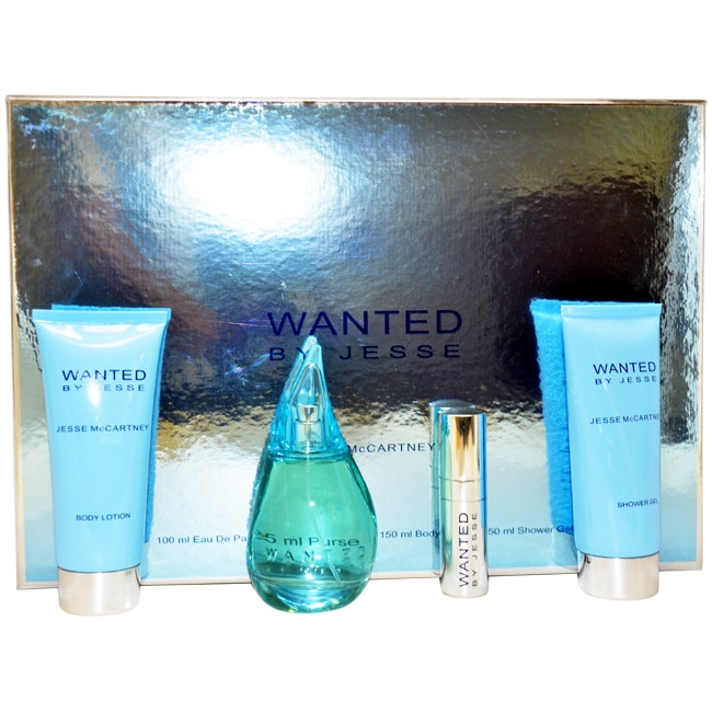 Wanted by Jesse McCartney for Women - 4 Pc Gift Set