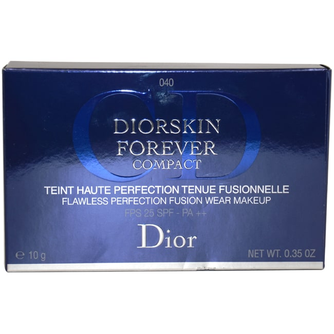 DiorSkin Forever Compact SPF25 - # 040 Honey Beige by Christian Dior for Women - 0.33 oz Make Up