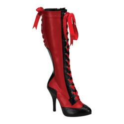 Women's Bordello Tempt 126 Red/Black PU