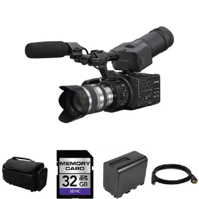 Sony NEX-FS100UK Super 35mm Digital Motion Camcorder with Lens Bundle