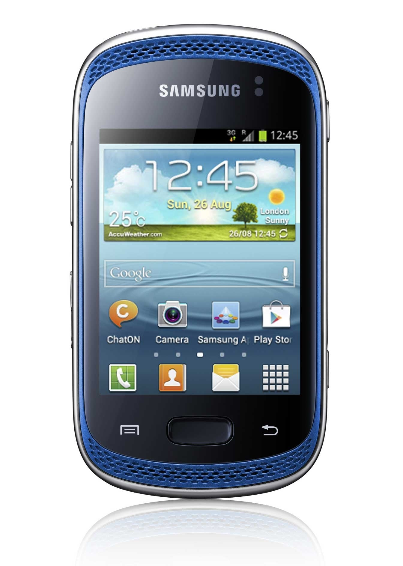 Samsung Galaxy Music S6012 GSM Unlocked Dual Sim Android Cell Phone - Blue