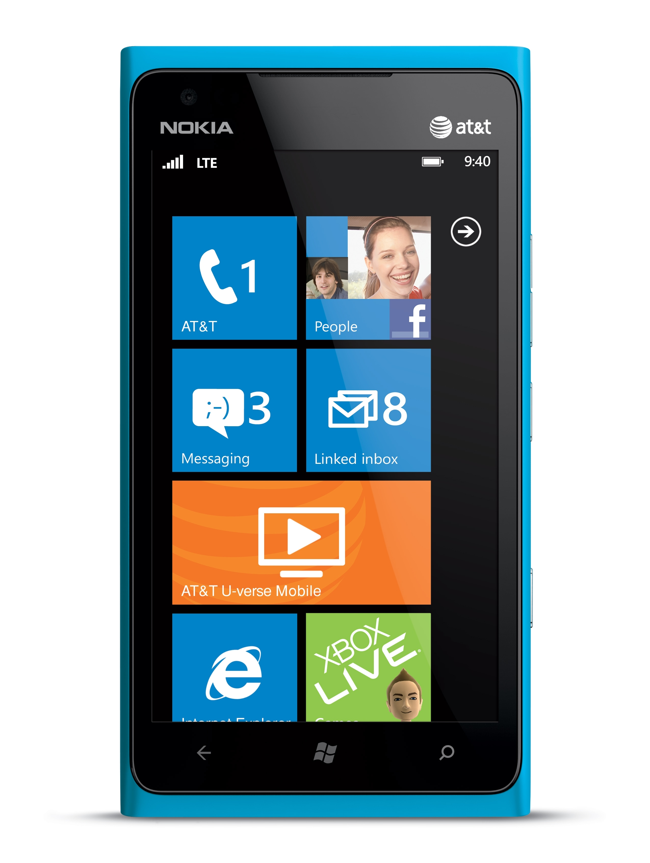 Nokia Lumia 900 16GB GSM Unlocked Windows 7.5 Cell Phone