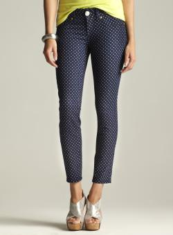 Seven7 Petite Polka Dot Skinny Jean