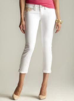Seven7 Petite Roll Cuff Skinny Jean