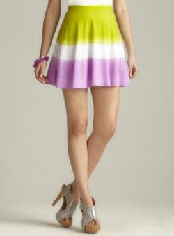 Derek Heart Dip Dye Flare Skater Skirt