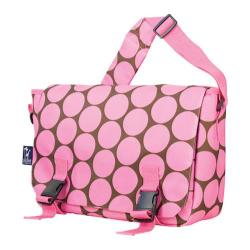 Wildkin Big Dots Pink Jumpstart 15-inch Laptop Messenger Bag
